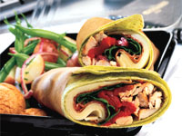 Italian Turkey Club Wrap