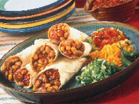 Southwestern Chicken and Bean Rollups
