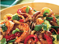 Sizzling Seafood Salad