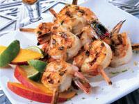 Skewered Shrimp, Fruits
