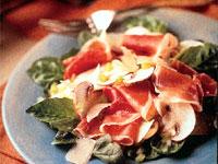 Mushroom Salad with Prosciutto
