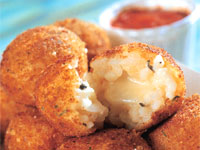 Fried Mozzarella Rice Balls