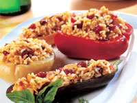 Vegetables Stuffed with Rice Pilaf