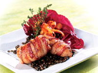Bacon-Wrapped Sweetbreads