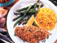 Spiced Red Snapper with Georgia Pecan Crust
