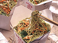 Angel Hair Pasta With Cilantro-Mint Pesto