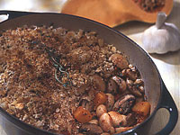 Butternut Squash and Mushroom Cassoulet