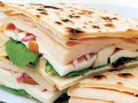 Smoky Chicken Flatbread Sandwich