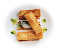 Sardine Toasts with Herb Drizzle