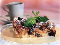 Milk Chocolate-Cherry Brioche Pudding