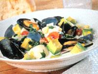 California Avocado Seafood Chowder