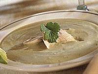 Creamy Avocado-Potato Soup with Chicken