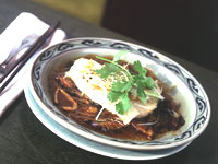 Steamed Sea Bass in Soy Broth