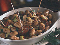 Garlic-Fried White Bean Salad