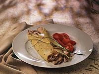Turkey-Chive Crêpes
