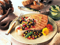Ranchero Grilled California King Salmon Steak