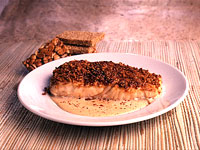 Toffee-dusted Halibut with Spicy Cumin Cream
