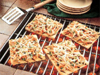 Grilled Thai Turkey Pizza