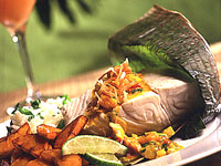 Halibut with Shrimp Curry
