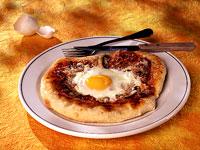 Egg Prosciutto Pizza