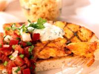 Indian-Spiced Chicken Sandwich with Cucumber Raita