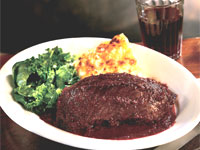Hanger Steak with Teleme Gratin