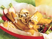Fried Cumin-Potato Mushroom Taquitos