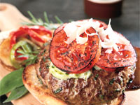 Tuscany Burger with Rosemary Potatoes