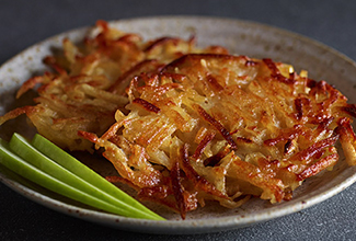 Apple and Potato Latkes