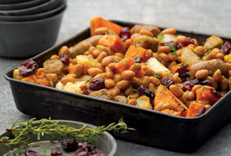 Maple Sausage Baked Bean Hash
