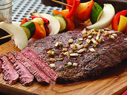 Beer-Marinated Grilled Flank Steak