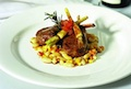 Braised Shoulder of Lamb with Creamed Cannellini Beans, Roasted Beetroot and Parsnip