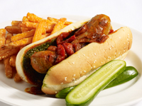 Buffalo Wing Spicy Sausage Dog Featuring Heinz® Buffalo Wing Sauce