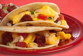 Chorizo & Egg Street Tacos