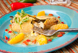 Chicken Chile Relleno with Florida Orange Salsa Verde