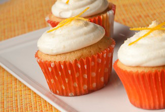 Old Portsmouth Florida Orange Cupcakes with Cream Cheese Icing