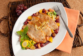 Turkey Scaloppini with Florida Orange-Napa Valley Cabernet Sauvignon Sauce