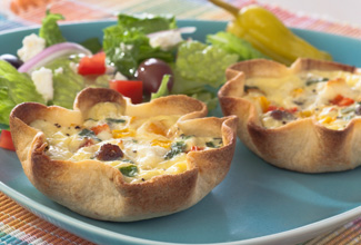 Greek Sausage & Feta Quiche