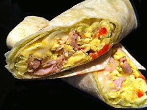 Green Eggs & Ham Breakfast Burrito