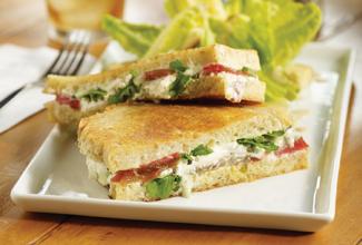 Grilled Cheese, Tomato & Pesto Sandwich