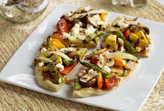 Grilled Vegetable Naan