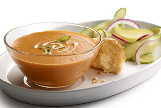 Chilled Smoked Tomato-Jalapeno Soup