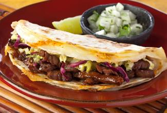 Kalbi Kimchi Quesadilla Taco