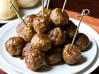 Spiced Apple Butter Swedish Meatballs