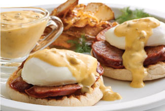 Southwest Benedict Sliders with Green Chile Hollandaise
