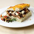 Open-faced Tuscan Duck Sandwich