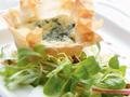 Wisconsin Cheese Tart with Apple-Walnut Salad
