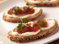 Wisconsin Mascarpone Crostini and Tomato Conserve