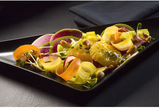 Florida Orange Pickled Vegetables with Toasted Cashew Vinaigrette