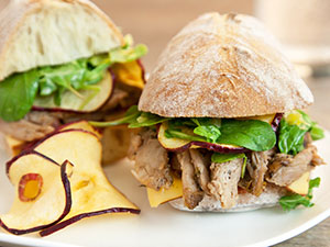 pulled duck ciabatta